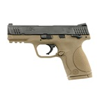 "Smith & Wesson M&P45c Compact Size .45 ACP Pistol 4"" Barrel Flat Dark Earth ( FDE ) Frame and Black Melonite Finish Slide White Dot Front and Rear Sights with Thumb Safety 8 Round Magazine"