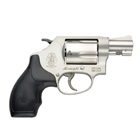 Smith & Wesson 637 Revolver SA / DA with Small Exposed Hammer chambered in .38 S&W Special +P Aluminum Alloy Frame Stainless Steel Cylinder with a Matte Silver Finish Synthetic Grip 5 Rounds