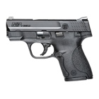 Smith & Wesson M&P9 Shield 9mm Luger Pistol 3.1 Inch Barrel Black Textured Grip and Frame Black Durable Melonite Slide Finish White Dot Front and Rear Sights With Thumb Safety 7 & 8 Round Magazines