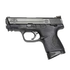 Smith & Wesson M&P9 Compact 9mm Luger Pistol 3.5 Inch Barrel Black Textured Grip and Frame Black Durable Melonite Slide Finish White Dot Front and Rear Sights Thumb Safety 12 Round Magazine
