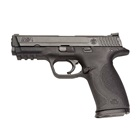 Smith & Wesson M&P9 Full Size 9mm Luger Pistol 4.25 Inch Barrel Black Textured Grip and Frame Black Durable Melonite Slide Finish White Dot Front and Rear Sights No Thumb Safety 17 Round Magazine