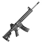 "Smith & Wesson Model M&P15-22 .22 LR Rifle All Black Finish Quad Rail Handguard Carbon Steel 16.5"" Threaded Barrel with A1 Style Comp 6 Position Collapsible Stock Iron Sights 25 Round Magazine"
