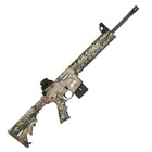 "Smith & Wesson Model M&P15-22 .22 LR Rifle Realtree APG HD Camo Quad Rail Handguard Carbon Steel 16.5"" Threaded Barrel with A1 Style Comp 6 Position Collapsible Stock Iron Sights 10 Round Magazine"
