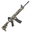 "Smith & Wesson Model M&P15-22 .22 LR Rifle Tan and Black Camo Quad Rail Handguard Carbon Steel 16.5"" Threaded Barrel with A1 Style Comp 6 Position Collapsible Stock Iron Sights 25 Round Magazine"