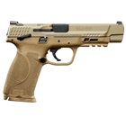 Smith & Wesson M&P9 M2.0 9mm Luger 5 Inch Barrel White Dot Front And Rear Sights Thumb Safety Flat Dark Earth FDE Stainless Steel Slide And Polymer Frame Picatinny Accessory Rail 17 Round Magazine