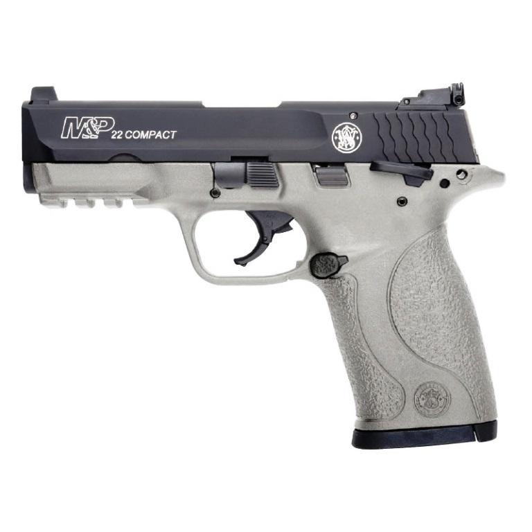 Smith & Wesson M&P22 Compact  22 LR ( 22 Long Rifle ) 3 5 Inch Carbon Steel  Barrel Black Armornite Aluminum Slide H152 Cerakote Polymer Frame Manual