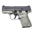 Smith & Wesson M&P9 Shield M2.0 9mm Luger Pistol 3.1 Inch Barrel Black Armornite Slide H152 Cerakote Textured Grip and Frame White Dot Front and Rear Sights With Thumb Safety 7 & 8 Round Magazines
