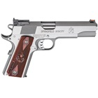Springfield Armory 1911 Range Officer .45 ACP 5 Inch Match Grade Barrel Stainless Steel Slide And Frame Fully Adjustable Rear Target Sight Fiber Optic Front Sight Wood Grips 7 Round Magazine