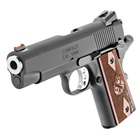 "Springfield Armory Range Officer Compact 1911 4"" Stainless Steel Match Grade Bull Barrel Chambered in 9mm Luger Fiber Optic Front and Low Profile Combat Rear Sight Cocobolo Wood Grips 8 Round Magazine"
