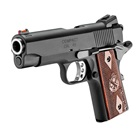 "Springfield Armory Range Officer Compact 1911 4"" Stainless Steel Match Grade Bull Barrel Chambered in .45 ACP Fiber Optic Front and Low Profile Combat Rear Sight Cocobolo Wood Grips 6 Round Magazine"