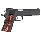 "Springfield Armory Range Officer 1911 5"" Stainless Steel Match Grade Barrel Chambered in 9mm Luger Fully Adjustable Rear Bomar Target Sight Cocobolo Wood Grips 9 Round Stainless Steel Magazine"