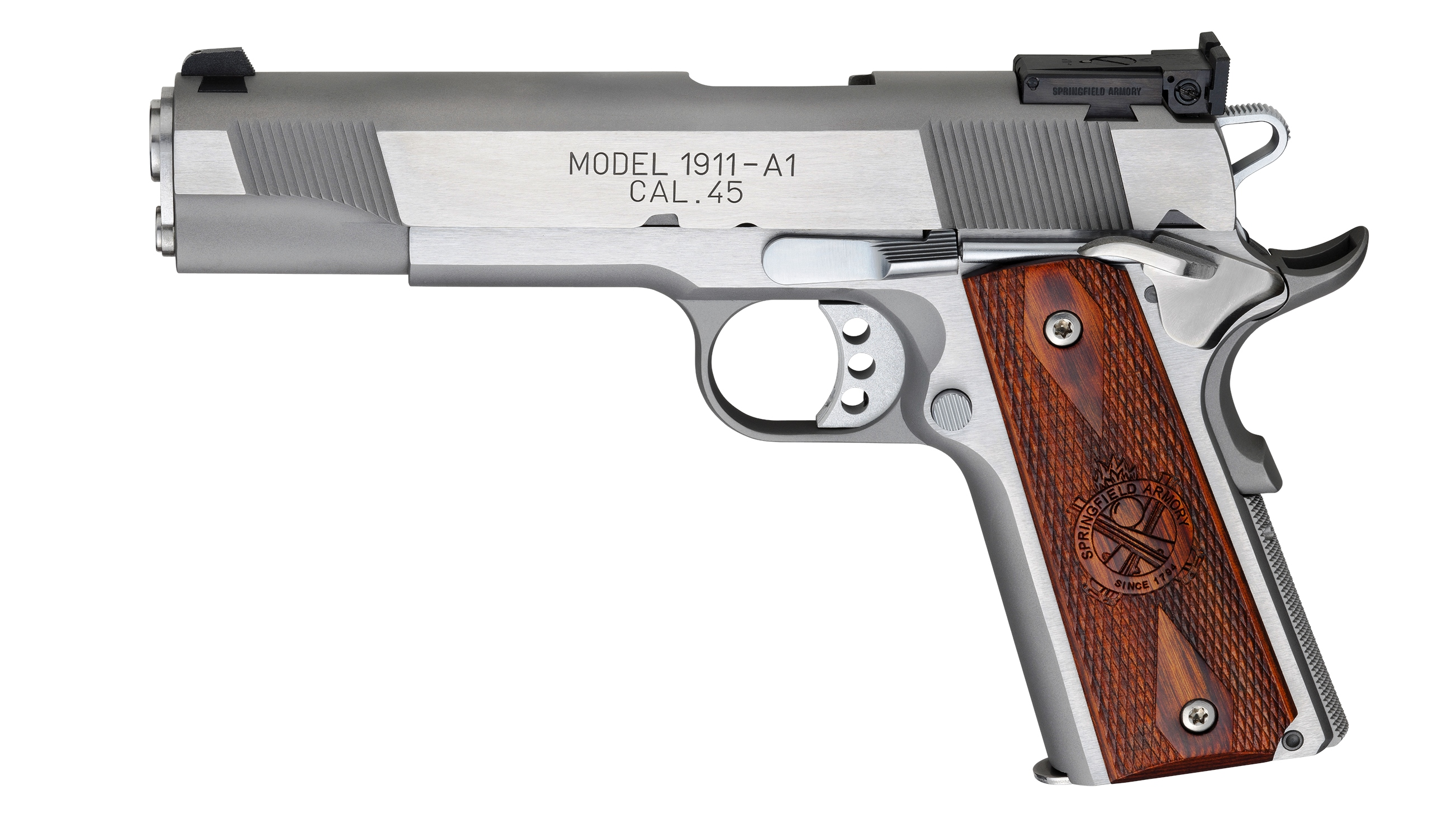 Springfield Armory Loaded 1911 Stainless Steel  45 ACP 5