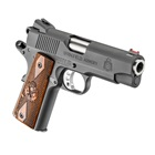"Springfield Armory Range Officer Champion 1911 4"" Stainless Steel Match Grade Bull Barrel Chambered in .45 ACP Fiber Optic Front and Low Profile Combat Rear Sight Cocobolo Wood Grips 7 Round Magazine"