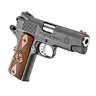 "Springfield Armory Range Officer Champion 1911 4"" Stainless Steel Match Grade Bull Barrel Chambered in 9mm Luger Fiber Optic Front and Low Profile Combat Rear Sight Cocobolo Wood Grips 9 Round Magazin"