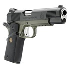 "Springfield Armory Loaded MC Operator 1911 5"" Match Grade Barrel Chambered in .45 ACP Steel Frame with Rail Olive Drab OD Green and Black Finish Low Profile 3 Dot Tritium Night Sights 7 Round Magazine"