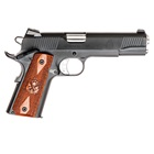 "Springfield Armory Loaded 1911 Parkerized .45 ACP 5"" Barrel Low Profile Combat 3 Dot Tritium Night Sights 7 Round Magazine Cocobolo Wood Grips"