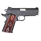 "Springfield Armory Champion Operator Lightweight 1911 4"" Match Grade Bull Barrel in .45 ACP Aluminum Frame Low Profile Combat 3 Dot Tritium Night Sights Picatinny Rail 7 Round Magazine"