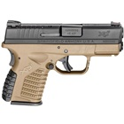 "Springfield Armory XDS Flat Dark Earth FDE 3.3"" Steel Melonite Hammer Forged Barrel Chambered in .45 ACP Fiber Optic Front and White Dot Dovetail Rear Sights 5 Round and 6 Round Extended Magazines"