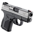"Springfield Armory XDS Essentials Bi-Tone 3.3"" Steel Melonite Hammer Forged Barrel Chambered in 9mm Luger Fiber Optic Front and White Dot Dovetail Rear Sights 7 Round and 8 Round Extended Magazines"
