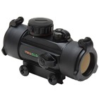 TRUGLO Optics Red Dot Black Aluminum Body 30mm Objective Lens 5 MOA Red Dot Reticle Flip-UP See Thru Lens Cap Covers Integrated Weaver Style Mounting System