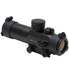 TRUGLO Optics Dual Color Red and Green Dot Black Aluminum Body 30mm Objective Lens Detachable Sunshade 3 MOA Circle Dot Reticle Flip-UP See Thru Lens Cap Covers Integrated Weaver Style Mounting System