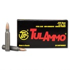 TulAmmo Ammunition .223 REM ( Remington ) 55 Grain Full Metal Jacket Bullet Non-Corrosive Steel Berdan Primed Cartridge Case Box of 20 Rounds